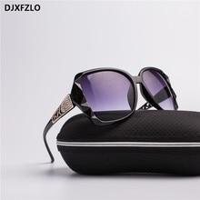 DJXFZLO 2018 New Large Frame Designer Sunglasses Womens High Quality Fashion Mirror Brand  UV400
