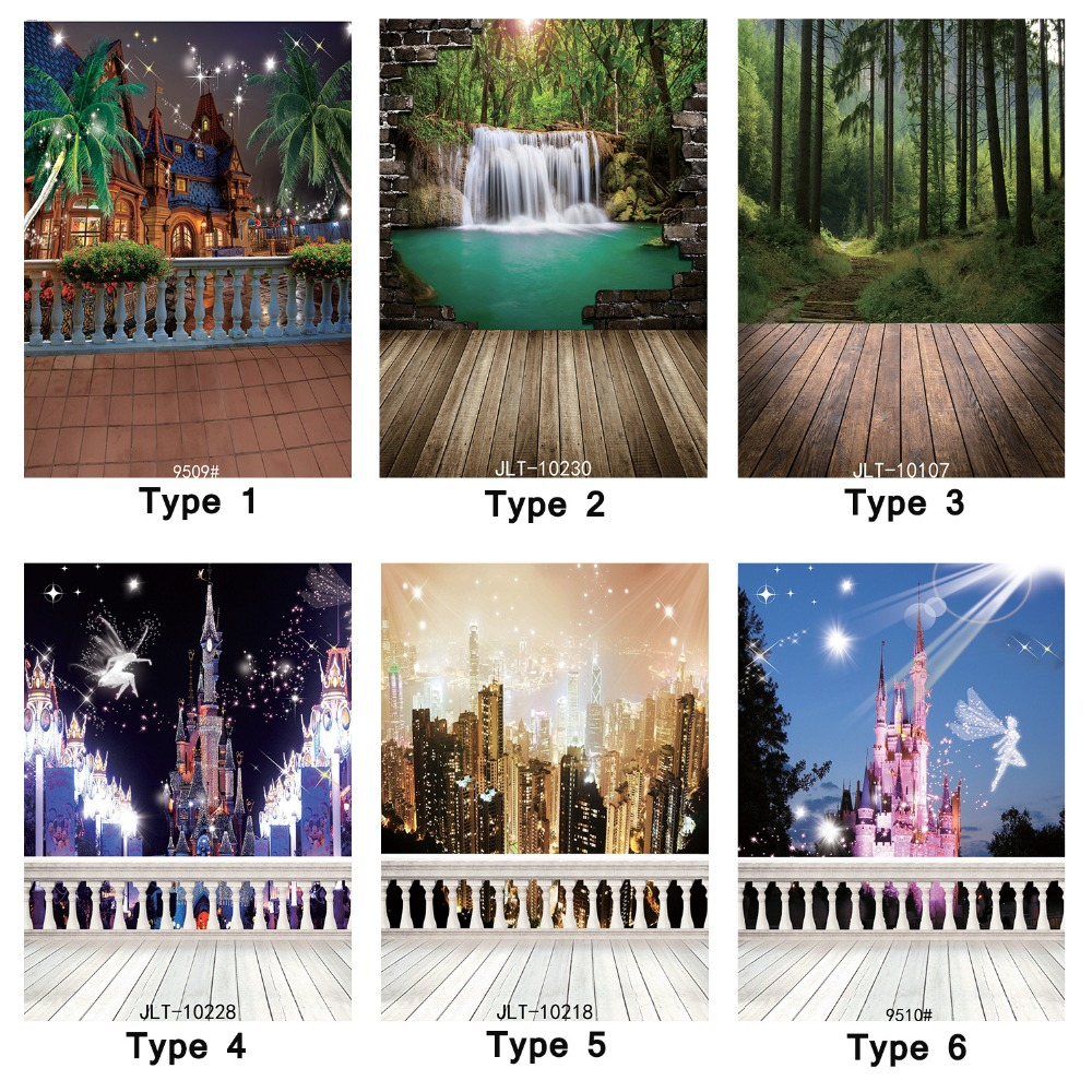 Backgrounds for Photo Studio 5X7ft Vinyl backdrops City Views Scenic Waterfall Photography Backdrop Baby Children Photo Shoot