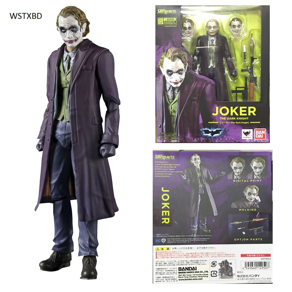 WSTXBD Original BANDAI Tamashii Nations S.H. Figuarts SHF Clown Joker Figure Brinquedos Dolls Toys Figurals anime captain america civil war original bandai tamashii nations shf s h figuarts action figure ant man