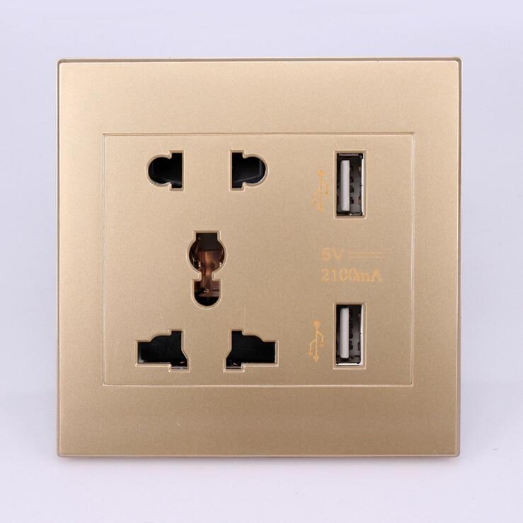 2 prese USB / 4 prese di ricarica USB Ingresso CA 85V-265V / Uscita - Accessori per elettroutensili - Fotografia 3