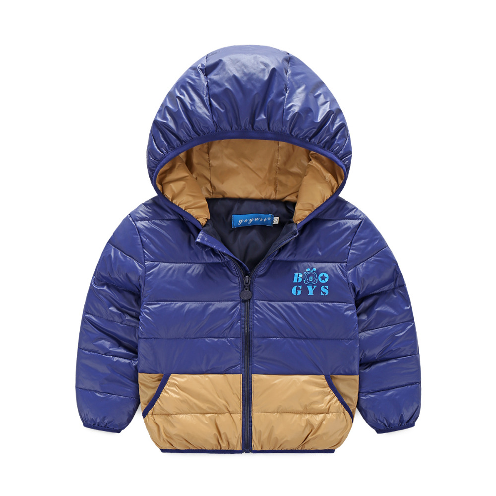 ФОТО Free shoping Children's Outerwear Boys and Girls Winter Warm Coat Children Cotton-Padded Clothes with cap boy Down Jacket