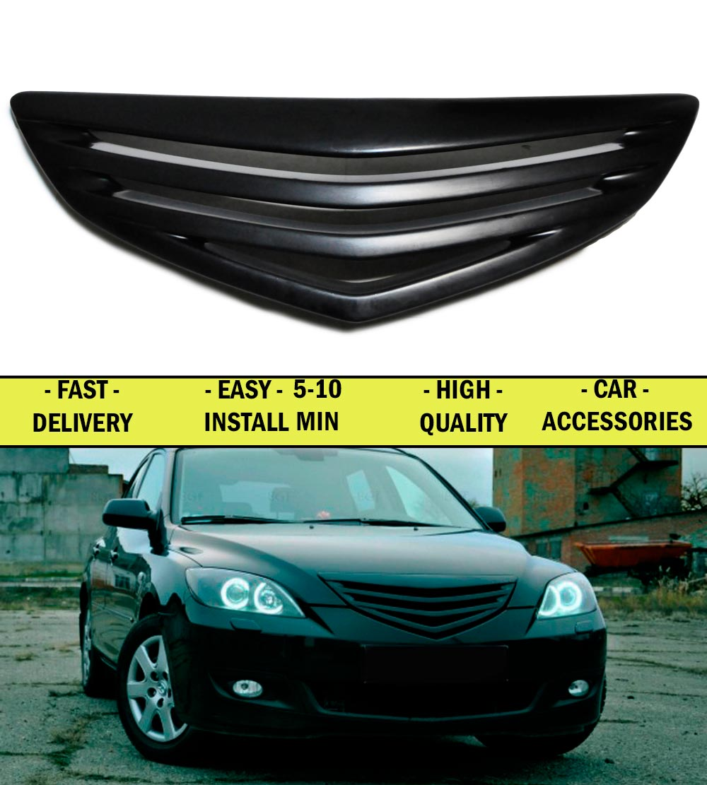 Radiator grille for Mazda 3 HB 2004-2006-2008 ABS plastic front bump decor design sports styles car styling car accessories