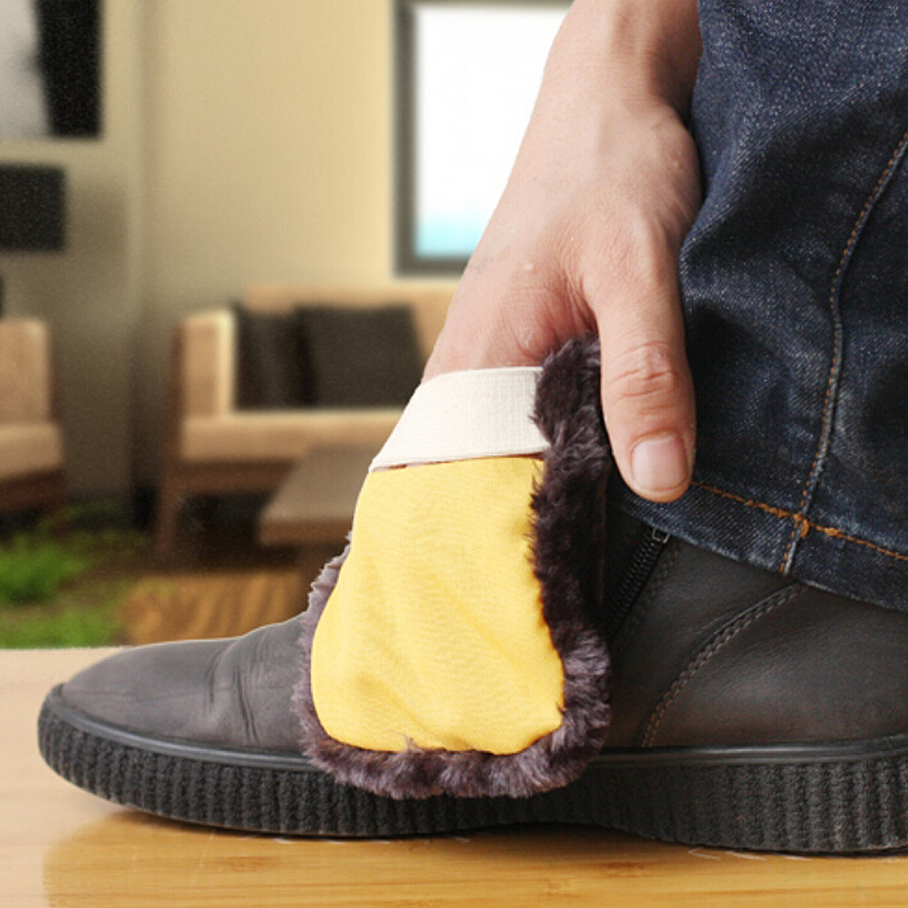 Soft Slipper Shaped Woolen Shoes Polishing Pad Shoes Shining Polisher