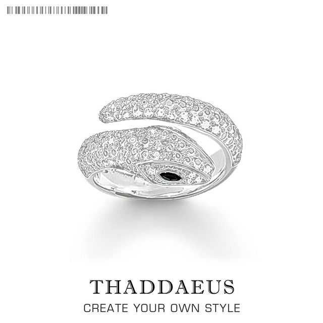 Snake Pave White Rings,Thomas Style Glam Fashion Good Jewerly For Women,2020 Spring Ts Gift In 925 Sterling Silver,Super Deals