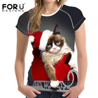 2017 Black Friday Big Promotion Funny T Shirt Women Wacky Cat Print 3d T Shirt Girl