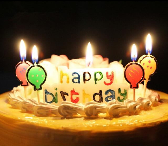 New Cute Happy Birthday Cake Candle Baby Birthday Decor Beautiful