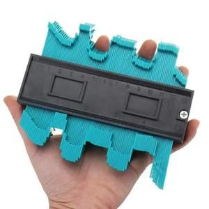 Image 4 - Multifunction Plastic Irregular Shaper Profile Ruler Gauge Duplicator Contour Scale Template Curvature Scale Tiling Laminate