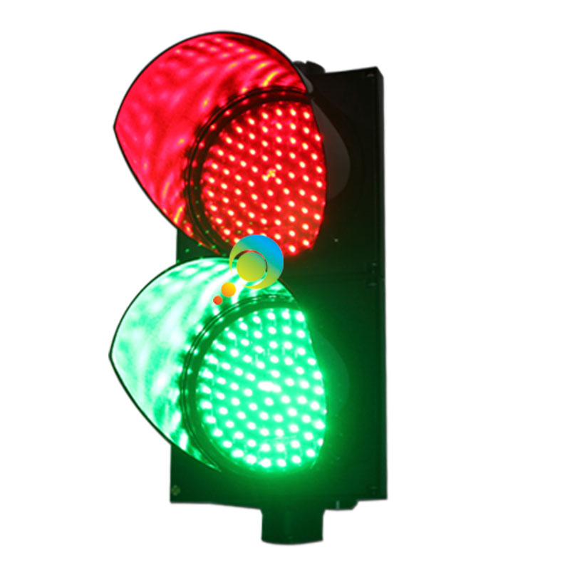 AC85-265V Wateproof Design High Quality 200mm PC Housing Red Green Traffic Light For Sale