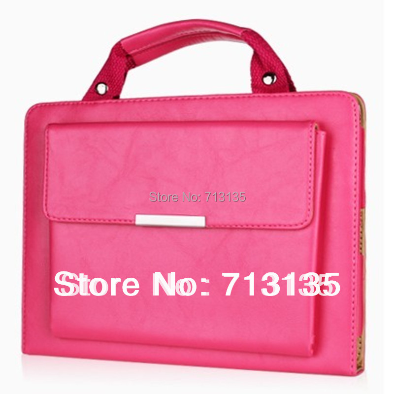 New Fashion Multifunctional Handbag Smart Stand Leather Case for ipad 2 New ipad 3 ipad 4 Sleep and Wake up Free Shipping 2017 newest cool bell brand nylon handbag messenger bag for ipad 1 2 3 4 for 8 9 10 tablet case free drop shipping 2027