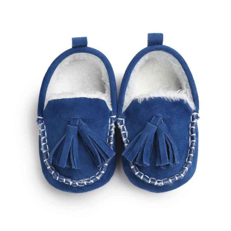 2017 Kış Bebek Pu Deri Bebek Süet Çizmeler Bebek Moccasins Yenidoğan Prenses Bebek Ayakkabıları M2