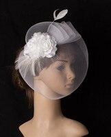 Fascinating Multiple Color Crinoline Fascinator Headpiece Wedding Hair Accessory Silk Flowers Suit For All Season TMYQ088