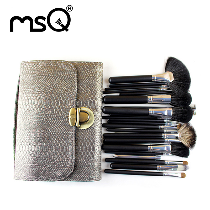 MSQ Free shipping !! 26 pcs Soft Synthetic Hair make up tools kit Cosmetic Beauty Makeup Brush Sets with Leather Case fully tested for lenovo g580 qiwg5 la 7982p laptop motherboard la 798
