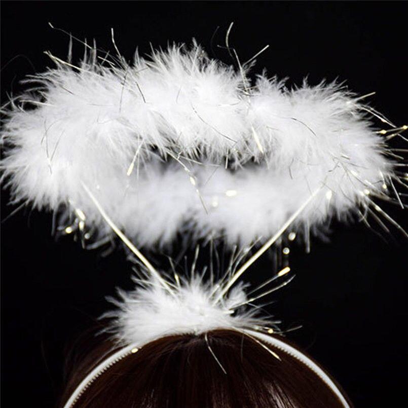 New Women Fashion Ladied Fluffy Halo Angel Headband Fairy Fancy Dress Party Hairband Casual Head-wear Accessories #4R07 (5)