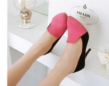 ZJVI women fashion nubuck thin high heels pumps woman pointed toe shoes womens mixed colors autumn summer shoes ladies shoes