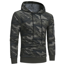 Camouflage Hooded Casual Pullover