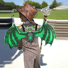 New Bat costume wings mask Adult kids Halloween costumes Carnival Animal Bat cosplay masks Anime Dragon Cosplay Masquerade Wings(China)