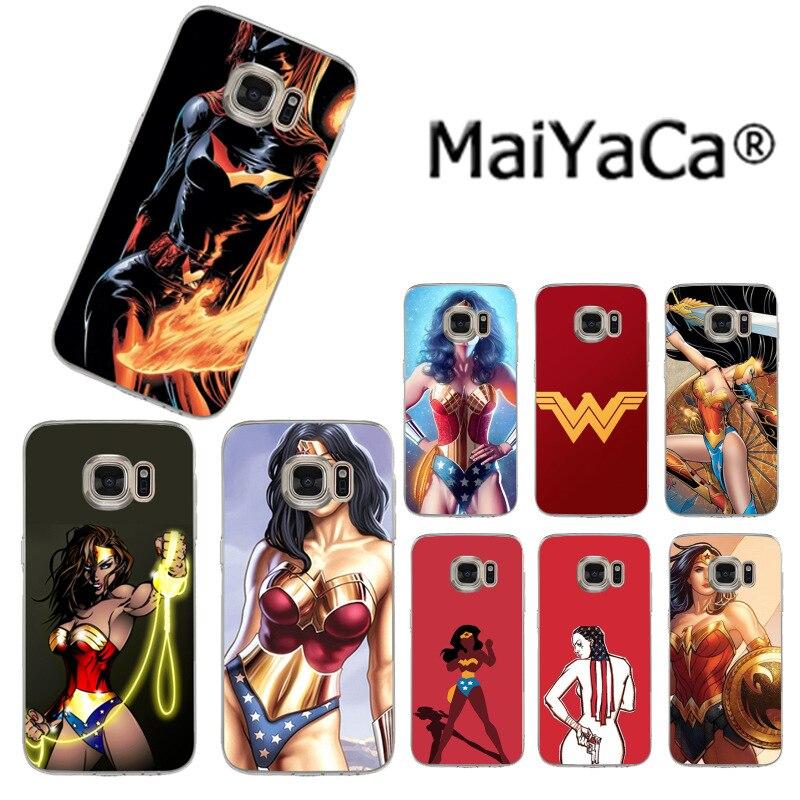 Maiyaca Wonder Woman DC Superhero Роскошные модные чехол для сотового телефона Samsung S3 S4 S5 S6 S6Edge s6plus S7 S7edge S8 s8plus