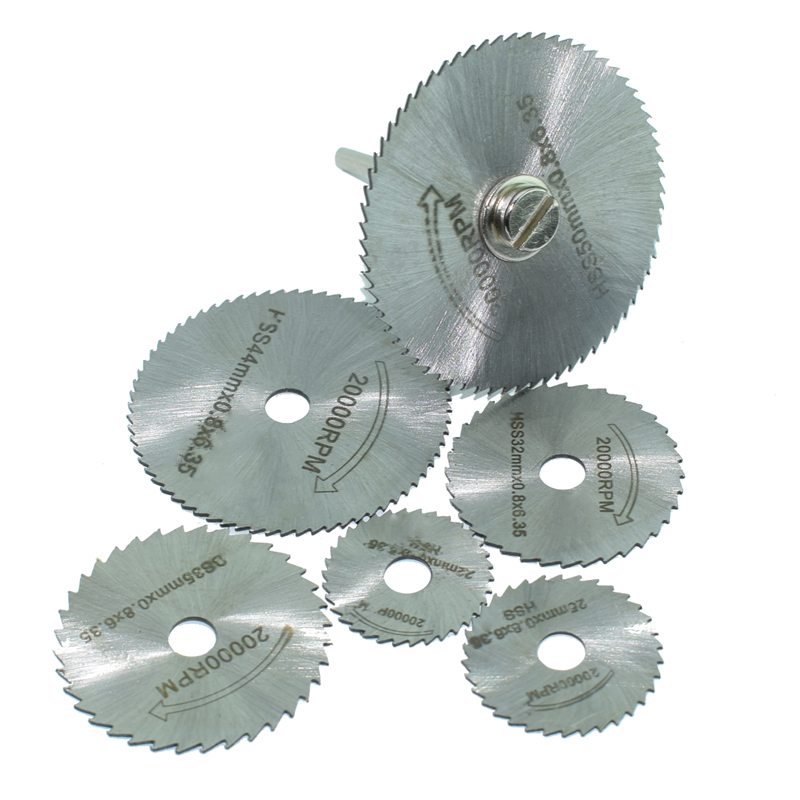 6 Pieces HSS Saw Blades For Dremel Electric Drill Ratory Tools Dremel Electric Mill Tools Dremel Accessories