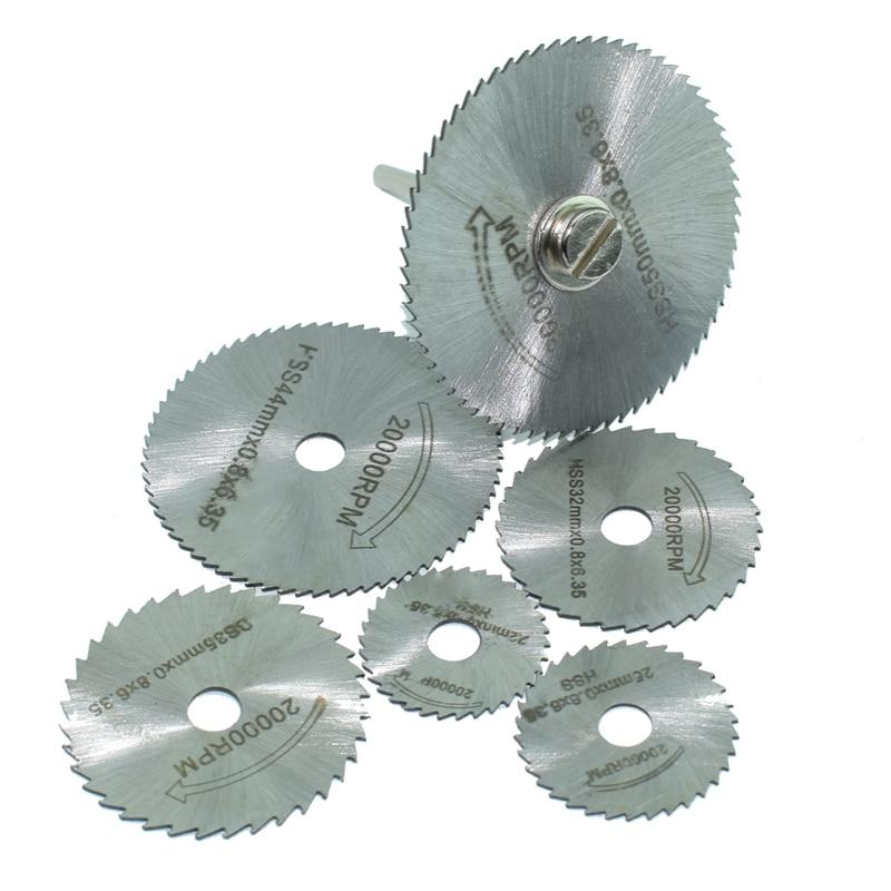 6 Pieces HSS Saw Blades For Dremel Electric Drill Ratory Tools Dremel Electric Mill Tools Dremel Accessories