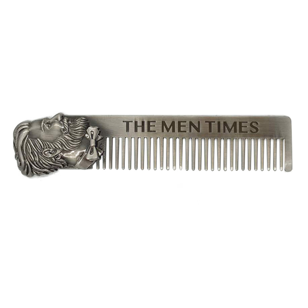1pc Stainless Steel Men's Beard Styling Template Comb Shaping Brush Tool Beard Comb Template Grooming Kit Facial Hair Trimmer