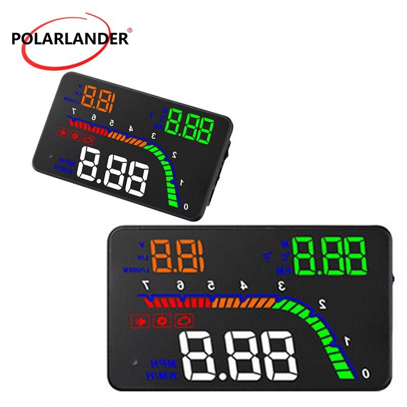 Driving Computer Head Up Display HUD LED Multi Color Car Universal Speed 4 Inch OBD 2 Alarm HD T100 Digital