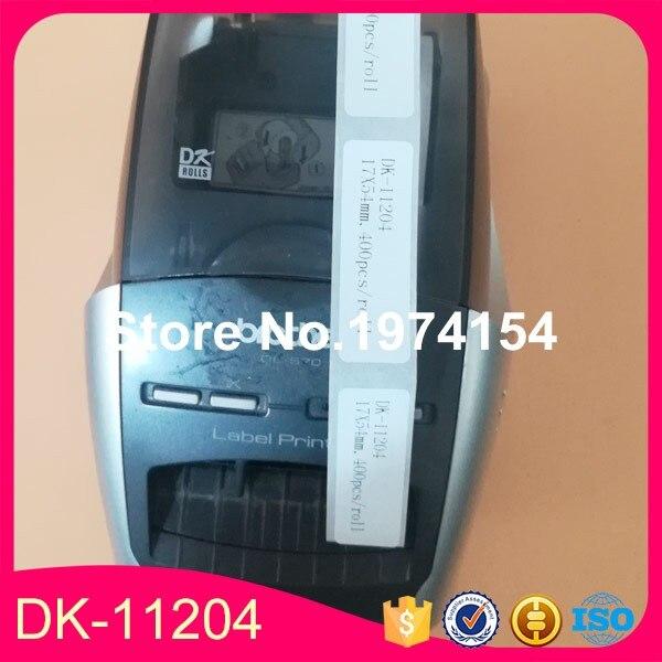 17 x 54 mm RINKLEE DK-11204 Etichette Compatibile per Brother P-Touch QL-500 QL-550 QL-560 QL-570 QL-580 QL-700 QL-710W QL-720NW QL-800 QL-810W QL-820NWB QL-1060N QL-1100 QL-1110NWB 30 Rotoli
