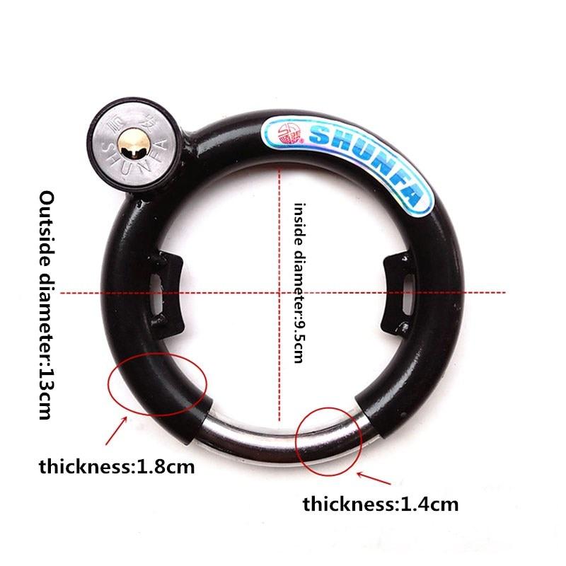 Bicycle Lock Fixed Anti – theft Bike Locks Bold Hard Latch Round Steel Lock Bicycle Accessories FZS003 1
