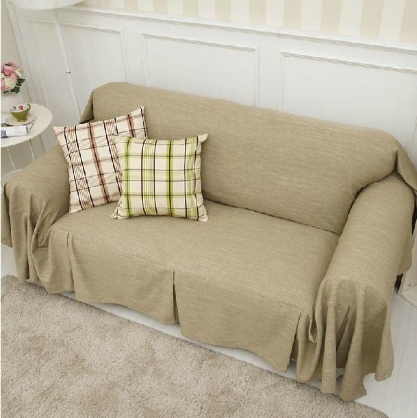 Modern Minimalist Style Checkered Skirt Cotton Blended Fabric Dust Cover  Slipcover Sofa Towel Can Be Customized