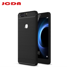 JCDA Hiagh quality For Huawei Honor V8 Case Carbon Fibre Brushed TPU Smart Phone Case back cover case For Huawei V8 phone bag