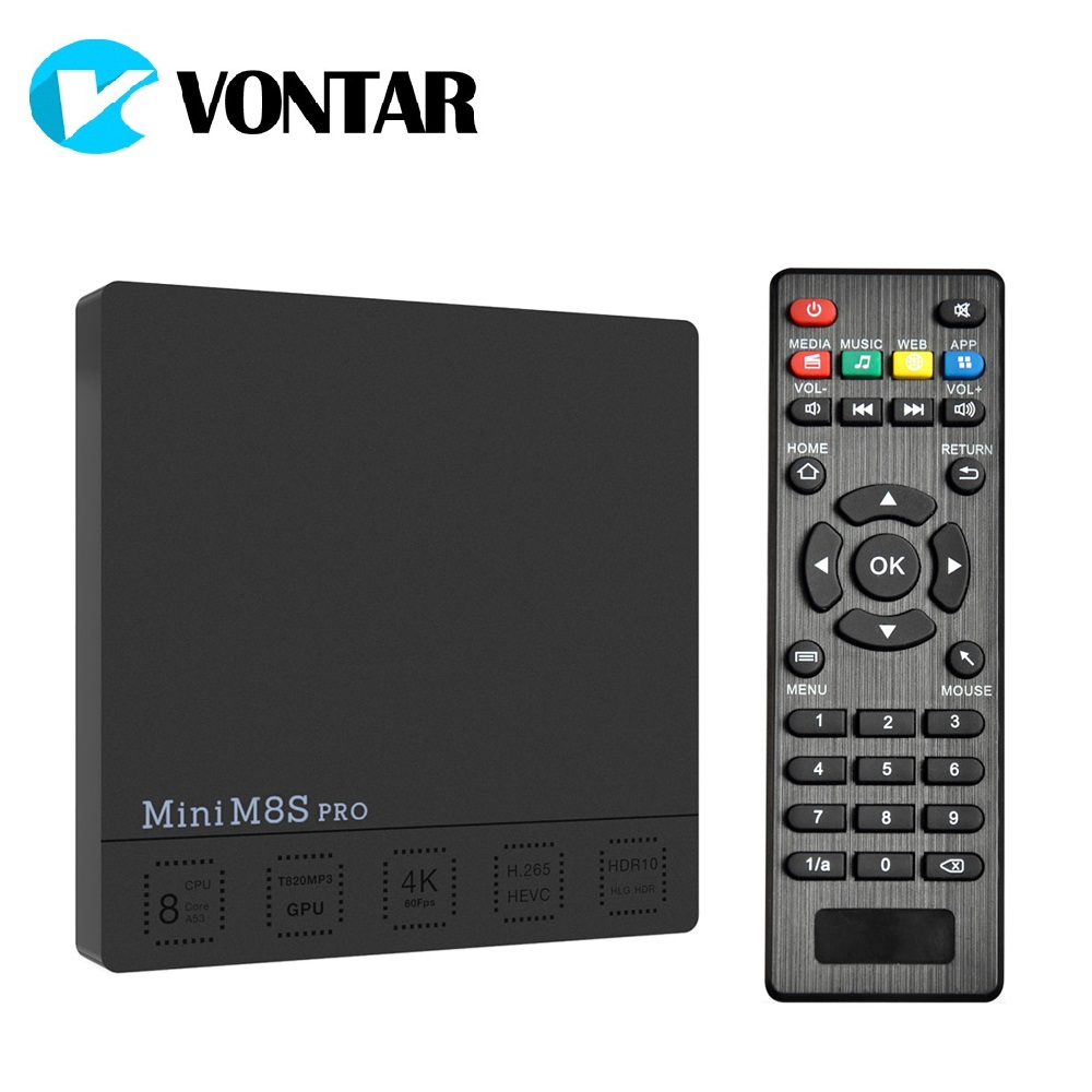 VONTAR Mini M8S PRO C DDR3 2GB 16GB Smart Android 7.1 TV Box Amlogic S912 Octa Core 2.4/5G Wifi H.265 Set-Top Box 3GB 32GB DDR4