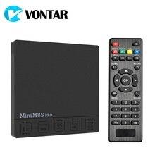 Vontar DDR3 2 г 16 г Android 7.1 ТВ Box Amlogic S912 Octa Core 2.4 г/5 г двойной Wi-Fi H.265 VP10 HDR10 vontar мини M8S Pro Декодер каналов кабельного телевидения