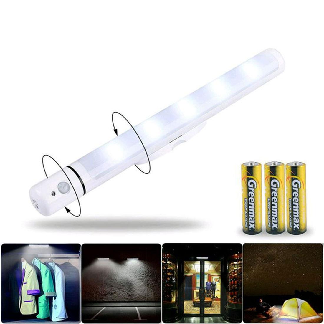 Wireless Motion Sensor Battery Operated Camping LED Kitchen Cabinet Garage Stairs Emergency Closet Lamp Flashlight Wall Night