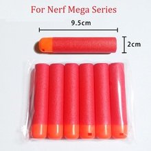 36PCS 9.5x2cm Elite Mega Series Dart Refill Clip Darts Paintball Gun Soft Bullet Electric Toys Kid Child Gifts Free Shipping