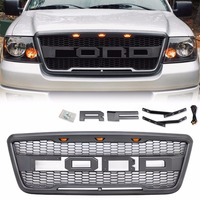 For 2004 2008 Ford F150 Raptor Style Conversion Front Hood Grille With F&R Letters+LED US Stock