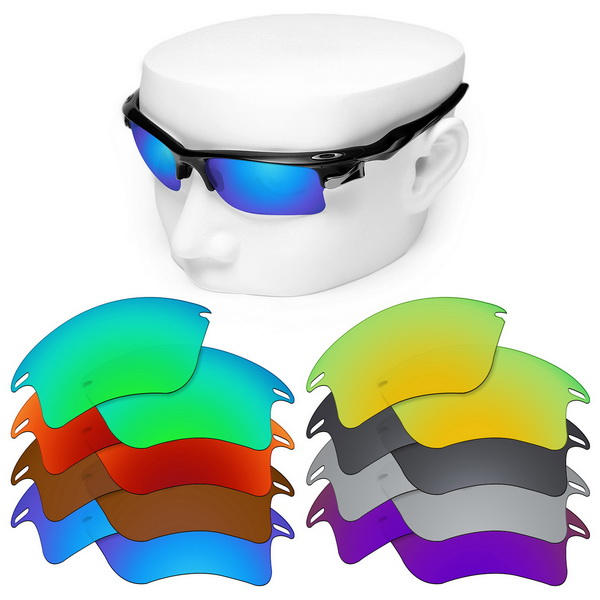 OOWLIT Polarized Replacement Lenses For-Oakley Fast Jacket XL OO9156 Sunglasses