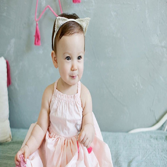 10pcs lot Baby hair accessories headbands Cat ears headband delicate lace  Children hair band baby cfef5d76035
