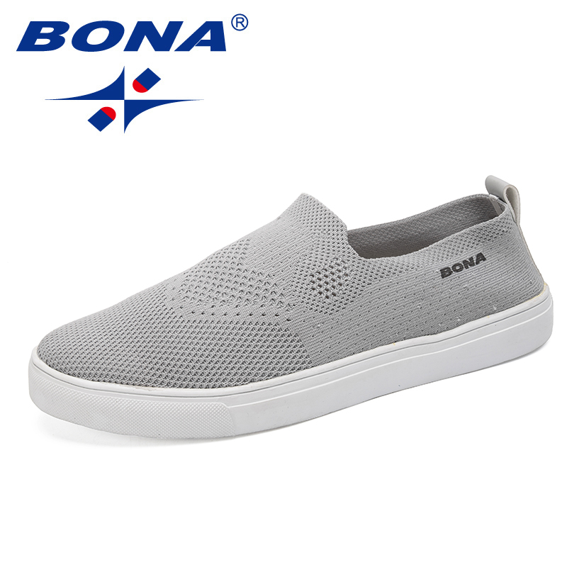 BONA New Fashion Style Men Casual Shoes Mesh Upper Breathable Men Shoes Comfortable Men Loafers Light Soft Fast Free Shipping