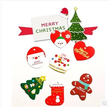Weihnachten Tags Reihe Von Kleinen Karten Gebacken Dessert Geschenk ...