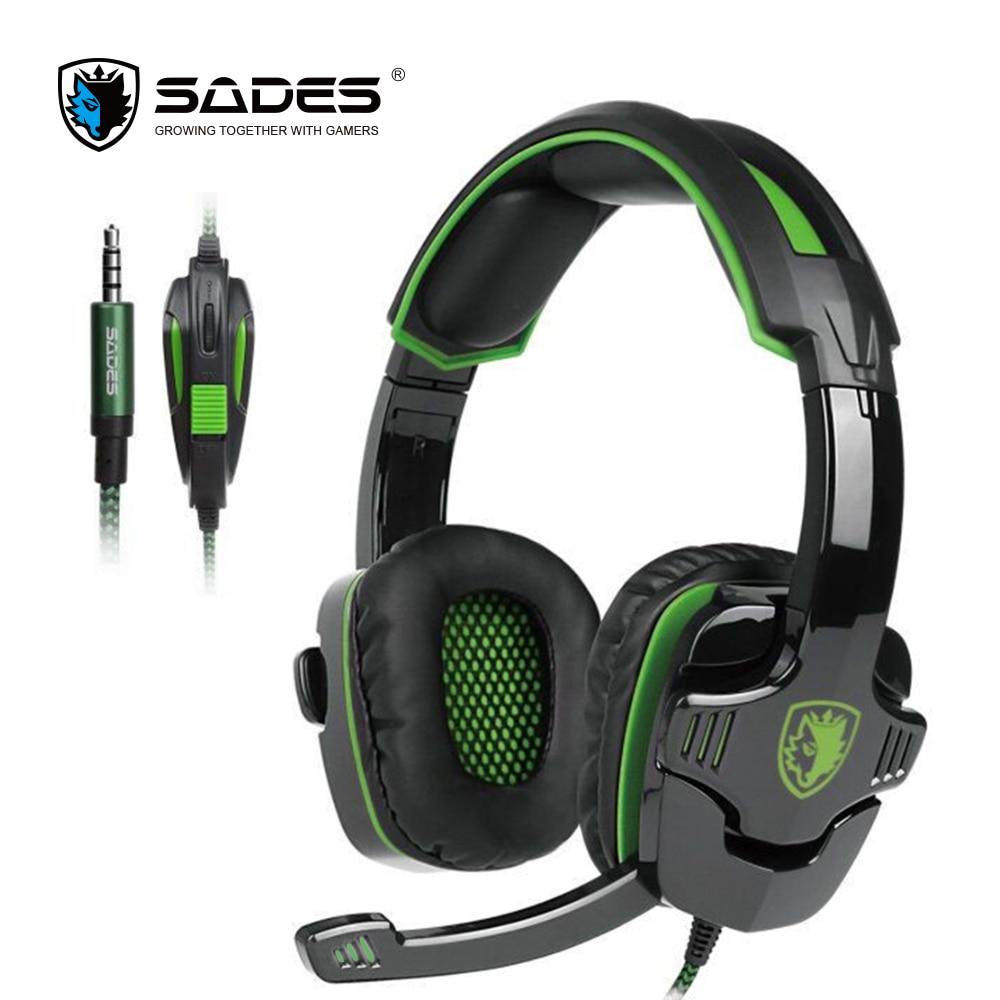 SADES SA930 3.5mm per Computer Gaming Headset Cuffia con Microfono A Cancellazione di Rumore per Mac/Xbox One/Cell Phone/PS4/Tablet