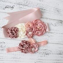 Fashion Burn flower Belt Girl Woman Sash Belt Wedding Sashes