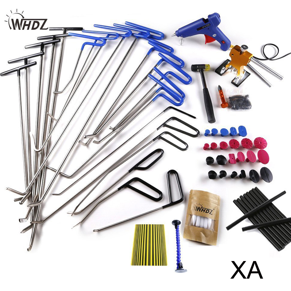 WHDZ Car Dent Removal Tools - with Tap Down Dent Puller Glue Tabs Glue Gun Glue sticker  ...