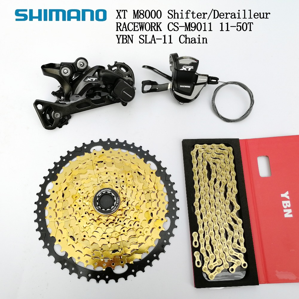 Shimano XT M8000 11 Speed Groupset MTB 11 Speed Shifter Rear Derailleur With Racework 11 46T