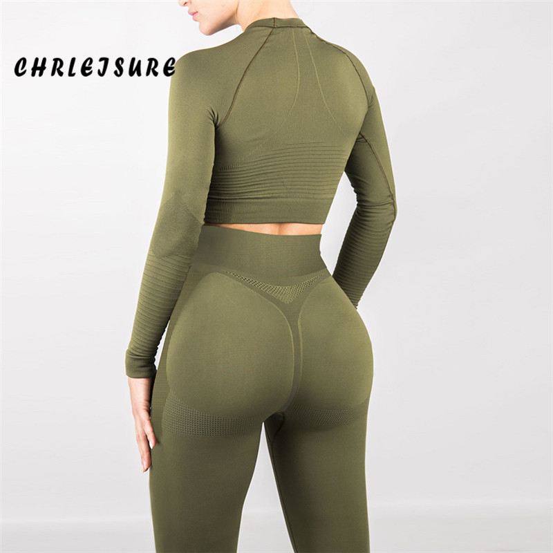 CHRLEISURE Women High Waist Mesh Workout   Leggings   Sexy Solid Color Polyester Fitness   Leggings   Fashion Stretch Leisure Jegging