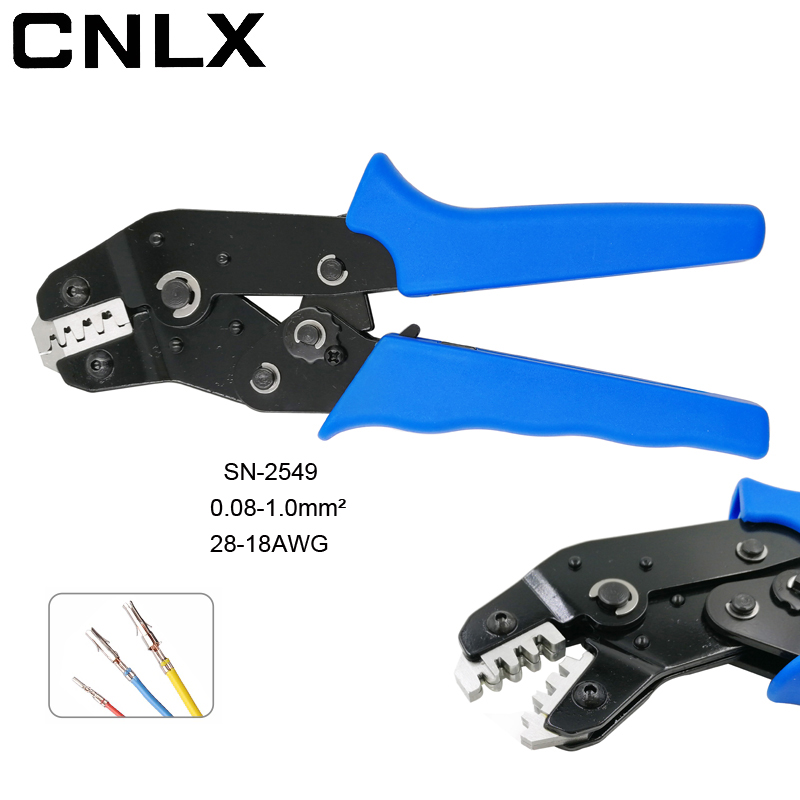 CNLX SN-2549 crimping pliers 0.08-0.1mm2 28-18AWG 2.54 spring 2510 terminal =SN-28B+SN-01BM eupop style wire crimp tools lacywear sn 11 irn