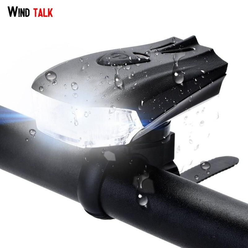 Wind Talk 400 Lumens 1200mAh Usb Rechargeable Bike Front Light Led Mtb Bright Anti-glare Bicycle Headlight дополнительная фара gofl glare of light gl 0470 3311