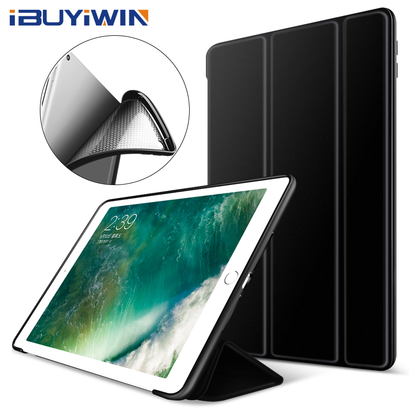 Case for iPad 9.7 2018 2017 Magnetic Stand PU Leather Funda Silicone Soft Back Smart Cover for iPad 2018 6th 5th Generation Case