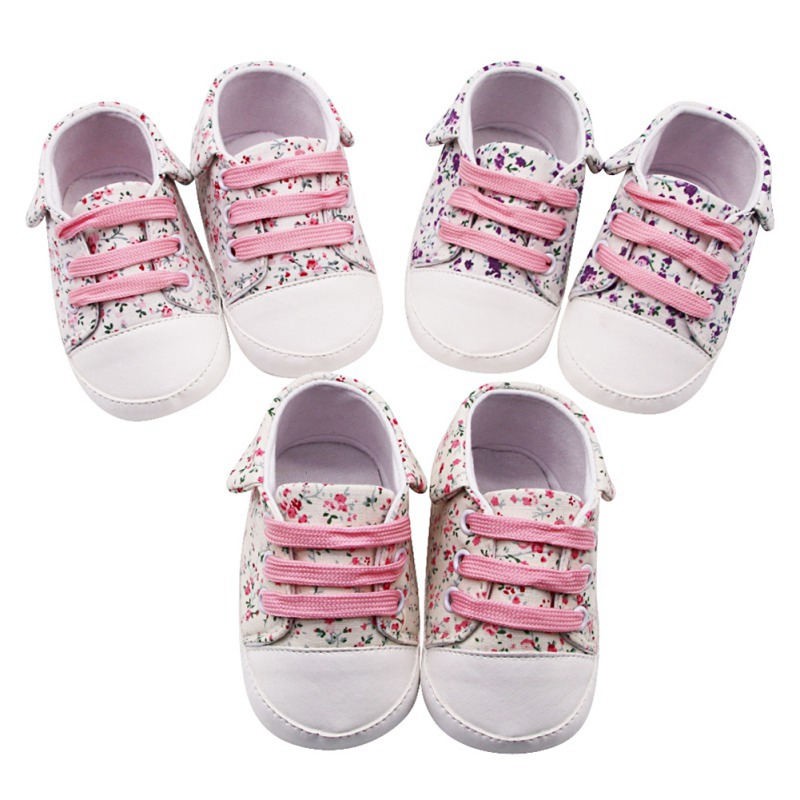 0 18M Newborn Baby Shoes 2019 Infant first walkers Tollder Canvas Shoes Lace up Baby Girls Boys Sneaker Prewalker in First Walkers from Mother Kids
