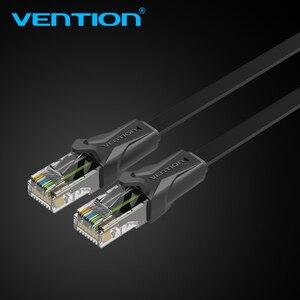 Image 3 - Cabo de remendo liso 1 m/5 m/10 m/20 m do cabo rj45 do lan da rede do gato 6 dos ethernet da vention cat6 para ethernet do cabo do portátil do roteador de pc