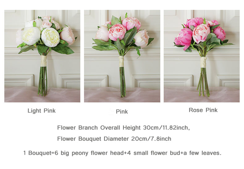 peony bouquet Wedding flower (15)