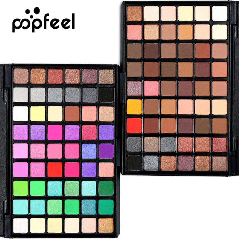 New Brand Professional Makeup Eye Shadow Shimmer Matte Eyeshadow Palette Set Kit 54 Colors Cosmetic New Arrival Eyeshadow Kit H8 цена 2017